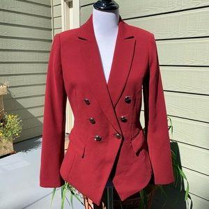 WHBM Gorgeous Cranberry Blazer - Size 4 EUC